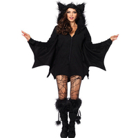 2016 New Arrival Bat Women And Kids Girls Jumpsuit Cosplay Costume Halloween Bodysuit Cosplay Party Vampire