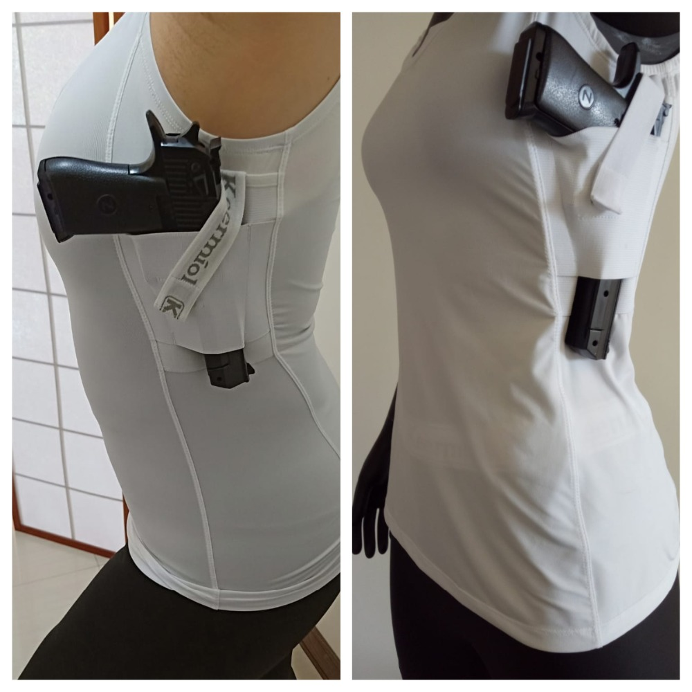 Womens Concealed Carry Tank top Tactical holster shirt Workout Confidence  Legging Concealment carry gun activewear self defense