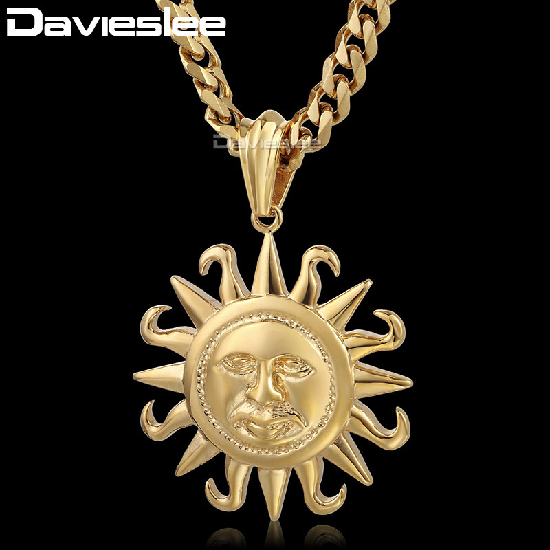 Davieslee 316L Stainless Steel Gold-color Silver Tone Tribe s