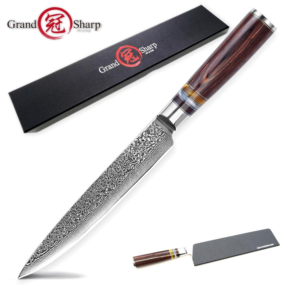Damascus Kitchen Knives Slicing Carving Chef Knife Japanese vg10 Damascus Steel Salmon Ham Knife Sashimi Sushi Cake Tools SlicerDamascus Kitchen Knives Slicing Carving Chef Knife Japanese vg10 Damascus Steel Salmon Ham Knife Sashimi Sushi Cake Tools Slicer