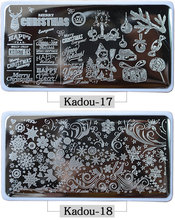12.5*6cm Nail Art Stamping Plates Christmas Snow 22 Style Plate Lace Watches Template for DIY Decoration