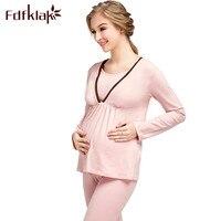 Fdfklak Familie Kostüme Pyjamas Für Schwangere Mutterschaft Nachtwäsche Frühjahr Herbst Langarm Pijamas Mutterschaft Kleidung F2
