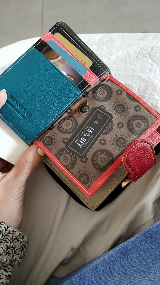 Cow Leather Women Purse Small Casual Wallets Luxury Brand lady Coin Pocket Money Bag Wallet Female Purses carteira feminina photo review