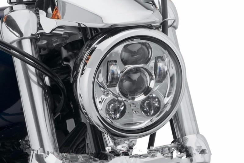5-3/4 5.75 LED Projection Daymaker Headlight For Harley Davidson Sporster XL 1200 883 Iron Dyna Glide Fat Bob Street Bob detachable quarter headlight fairing kit for harley sportster fxr 1986 1994 dyna 1995 2005 for harley 883 fat bob super glide