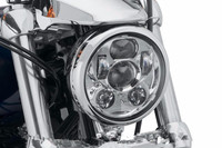 5 3/4 5.75 LED Projection Moto Headlight For Harley Davidson Sporster XL 1200 883 Iron Dyna Glide Fat Bob Street Bob