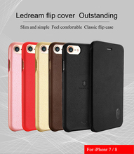 for Iphone 7 iphone8 leather case Lenuo ledream series SOFT&SLIM Luxury flip iphone 7/8 whole protective cover