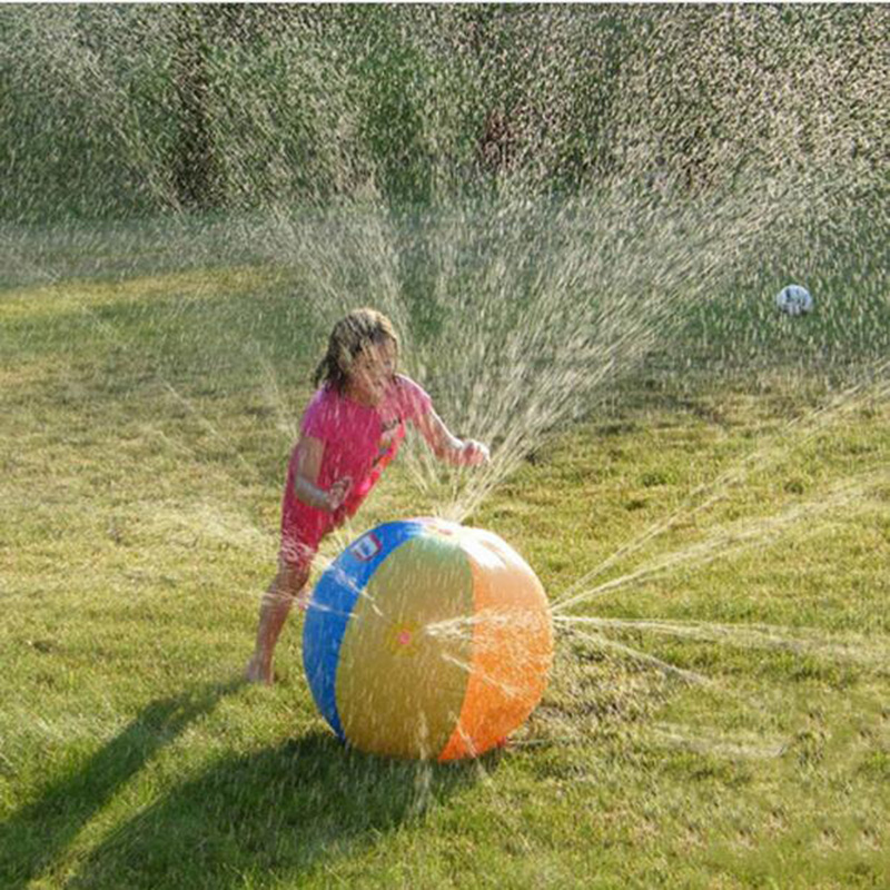 Inflatable Spray Water Ball Toy Kids Spray Water Ball Play On Beech Lawn Summer Swimming Water Toy For Children