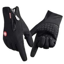 Лучшие продажи новых прибывших брендов Женщины Мужчины Лыжные перчатки Сноуборд Перчатки Мотоцикл Верховая езда Зимний сенсорный экран Снег Windstopper Glove