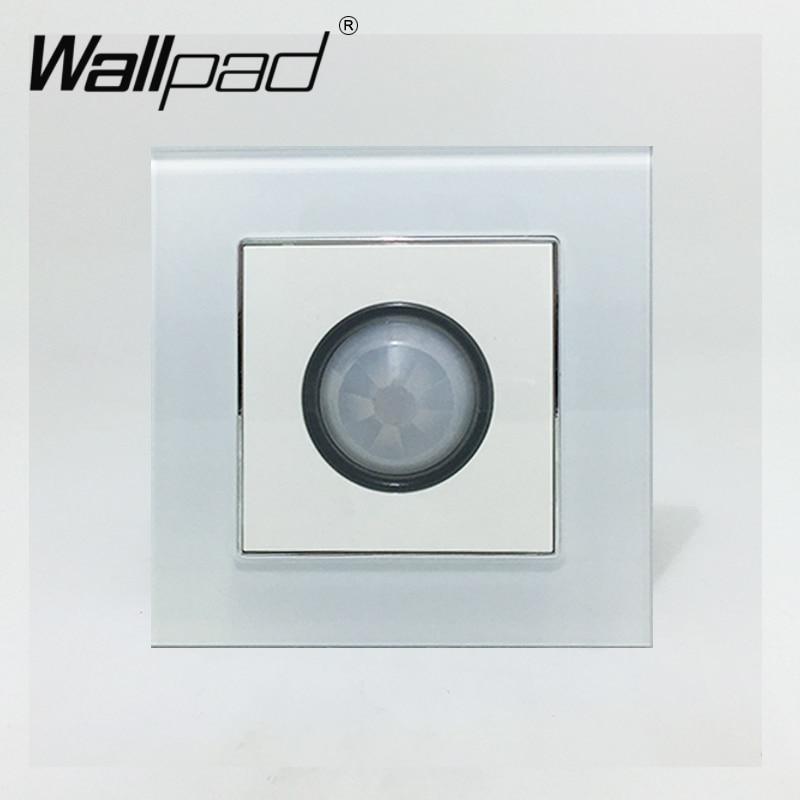 Human Sensor Switch Wallpad Luxury Crystal Glass 110V-250V EU UK Standard Wall Light Stair Corridor IR Sensor Move Sensor Switch wallpad 13a uk socket luxury hotel black crystal glass 86 size 13a uk standard wall socket free shipping
