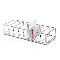 Fashion Clear Acrylic Makeup Powder Storage Box Desktop Cosmetic Organizer Lipstick Nail Polish Holder Women Makeup Storage Case