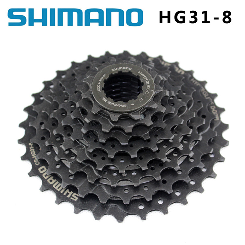 <font><b>SHIMANO</b></font> CS-<font><b>HG31</b></font>-<font><b>8</b></font> MTB Mountain Bike 8S Flywheel <font><b>8</b></font> Speed Cylinder Sprocket Star 11-32T Crankshaft bicycle Parts 8s / 24s image