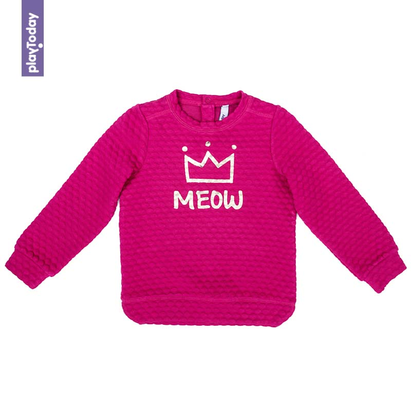 Hoodies and Sweatshirts PLAYTODAY for girls 372018 Children clothes kids clothes hoodies