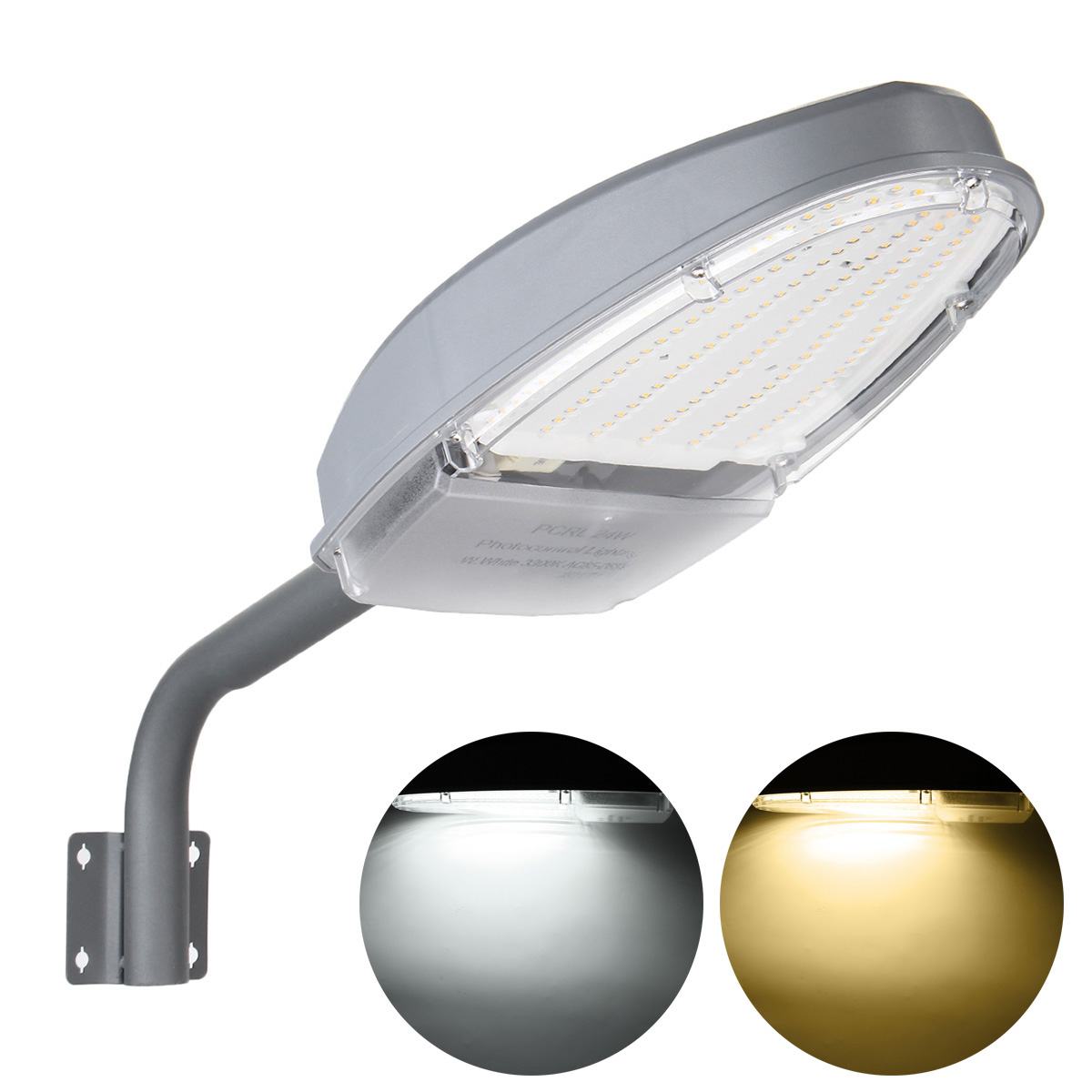 Non dimmable Light Sensor 24W 144 LED Street Flood Road Path Lamp Outdoor Garden Yard Path Waterproof AC85-265V 150 led warm white solar flood light yard street path security lamp sensor motion activated outdoor garden lamp 1050lm