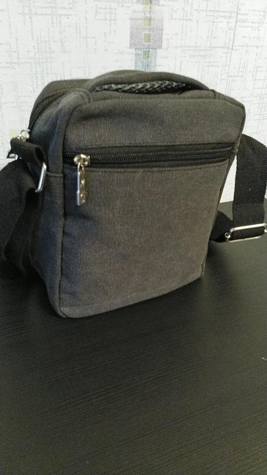 Fashion Men Shoulder Bag High Quality Canvas Handbag for Male Messenger Bag Casual Travel Bags Men Messenger Bags Male Clutches photo review