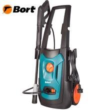 Мойка высокого давления Bort BHR-1900-Pro (Мощность 1900 Вт, производительность 7.5 л/мин, макс.давление 150 бар, автоматическое всасывание, длина шнура 5 м, длина шланга 8 м)