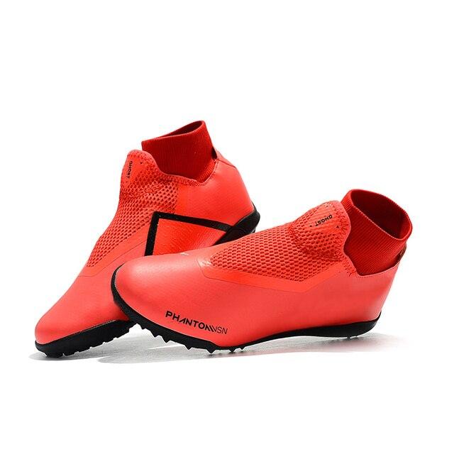 sufei Turf outdoor Soccer shoes Phantom Vison Original Superfly Breathable Sock Cleats Football Boots TF Chuteira Futebol