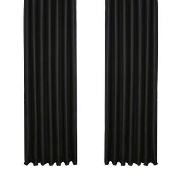 Tenda oscurante passacavo termoisolante oscurante drappo per soggiorno camera da letto 39x84 pollici (nero)