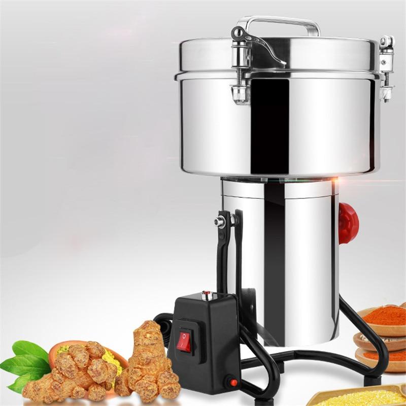 BEIJAMEI 3000g Large Power Cumin Pepper Corn Pseudo ginseng Pulverizer Crusher Grinder Machine Commercial Grain Grinding