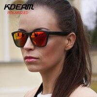 KDEAM Grenouille lunettes de Soleil Polarisées Femmes Marque Design De Mode Lunettes de Soleil Femmes UV400 oculos de sol Tous Les Fit Taille Nuances KD178
