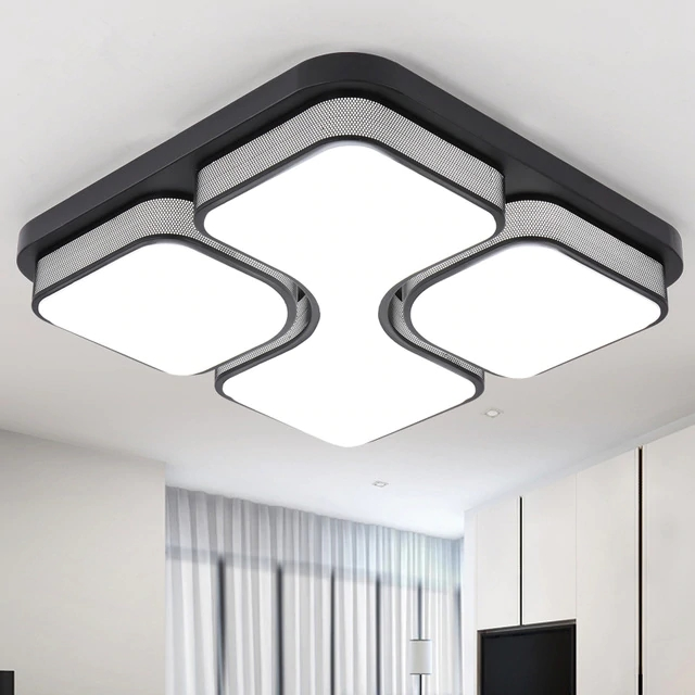 DX Modern Led Ceiling Lights Luminaire For Living Room Bedroom Minimalist Style Remote Control Lamp Art Square Dimmable Lustre  DX Modern Led Ceiling Lights Luminaire For Living Room Bedroom Minimalist Style Remote Control Lamp Art Square Dimmable Lustre