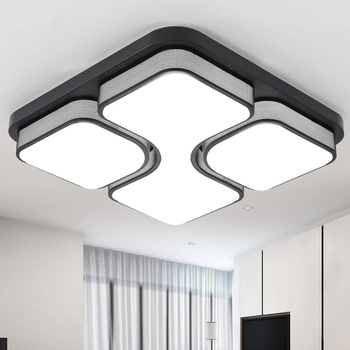 DX Modern Led Ceiling Lights Luminaire For Living Room Bedroom Minimalist Style Remote Control Lamp Art Square Dimmable Lustre