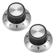 UXCELL 2Pcs 24x14 / 29x18mm Potentiometer Volume Control Rotary Knob w Dial Face Plate For Connect The