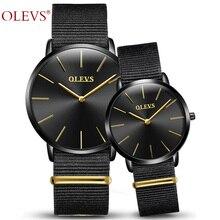 Любителей смотреть olevs Модные нейлон кварцевые Валентина наручные Для женщин муж и жена часы Высокое качество пару часов