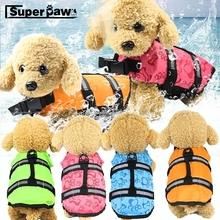 цены Dog Life Jacket Safety Clothes Pet Life Vest Summer Dogs Swimming Clothing French Bulldog Fin Jacket Play in the Sea GGC23