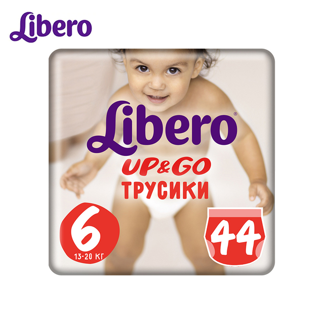 Трусики-подгузники Libero Up&Go Size 6 (13-20кг), 44 шт.
