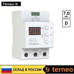 Terneo rk-DIN schiene elektrische thermostat mit digital control für kessel und heizung systeme und wärme sensor (7 kW, thermostat)