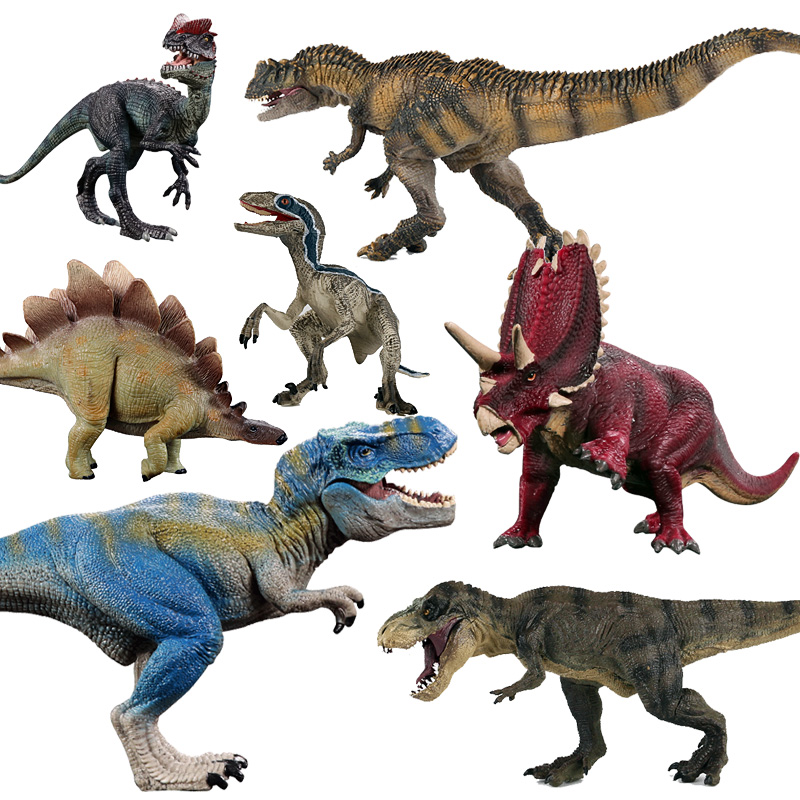 Jurassic world Tyrannosaurus Dragon Park Dinosaur spinosaurus Plastic Dinosaur Toy Model Mandible Moveable for children jurassic world park tyrannosaurus rex velociraptor dinosaur model toys animal plastic pvc action figure toy for kids gifts