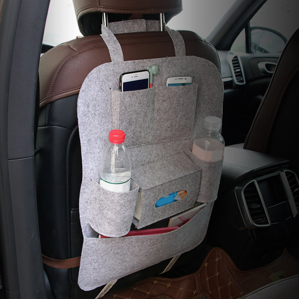 Multi-functional Chair Back Seat Car Hanging Storage Bag Anti-kick Pockets Stowing Tidyin