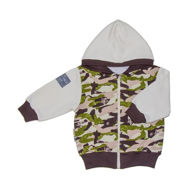 Куртка Lucky Child для девочек и мальчиков, 3М-24М, арт. 31-17pf (Милитари) [сделано в России, доставка от 2-х дней]