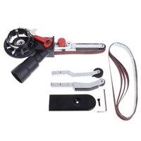 Sander Machine Sanding Belt Adapter Head Convert With Sanding Belts For 4 Electric Angle Grinder Mayitr