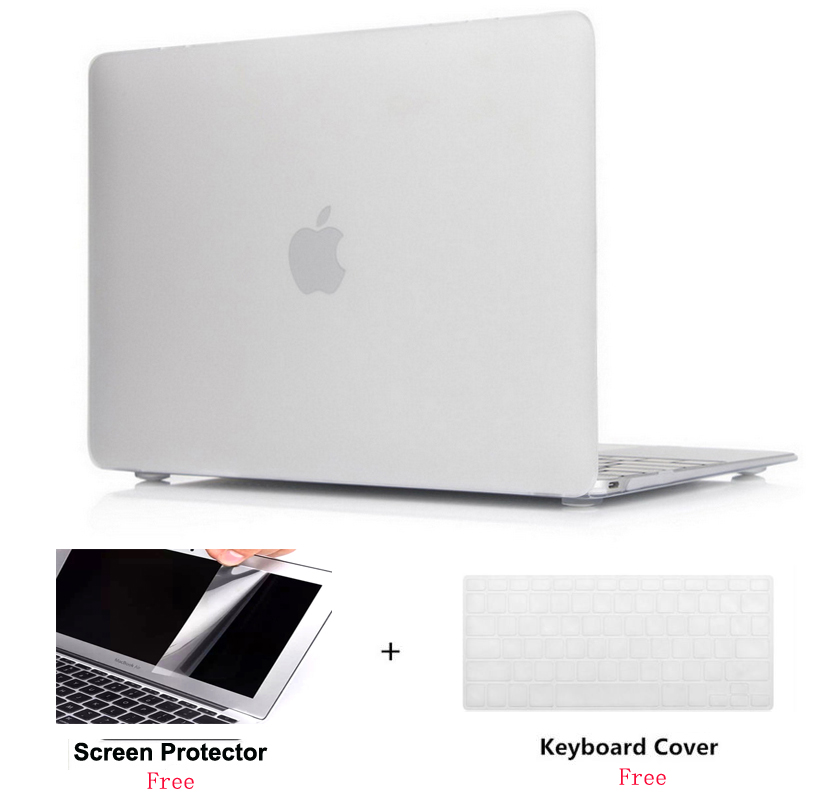 Frosted Clear Rubberized Hard Case Cover Skin Set keyboard cover For font b Apple b font
