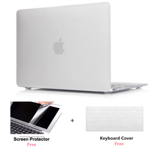 Frosted Clear Rubberized Hard Case Cover Skin Set keyboard cover For Apple Macbook Pro Air Retina 11 12 13 15″inch Touch Bar
