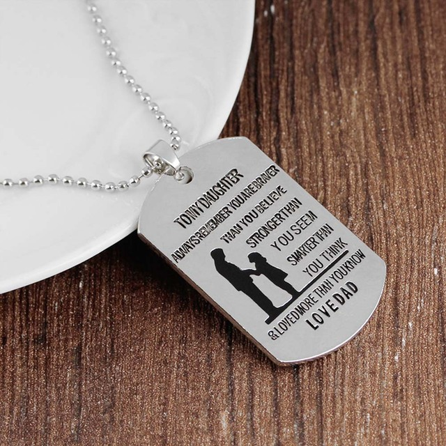 Nameplated necklace love gift to my daughter my daughter necklace nameplated necklace love gift to my daughter my daughter necklace dog tag stainless steel father daughter mozeypictures Choice Image