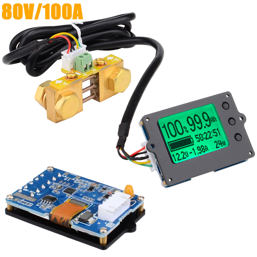 TF01N 80V 100A Coulometer for Battery Capacity Display Tester Electric Parameter Instrument Power Display Monitor 12000760