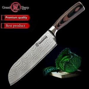 Image 1 - Новый нож Santoku из высокоуглеродистой нержавеющей стали, японский кухонный нож, суши, сашими, овощи, конфетная карта, Подарочный нож