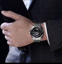 Мужчины Подарки Краткое Дизайн Черный Каучуковый Ремешок Творческий Проигрыватель и Уникальный Дизайн для Молодых Моды Кварцевые Наручные Часы
