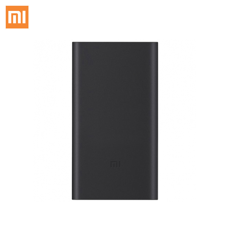 Xiaomi Mi Power Bank 2S 10000 mAh Black and Silver Color Portable Charger Dual USB Mi External Battery Bank for Mobile Phones цена
