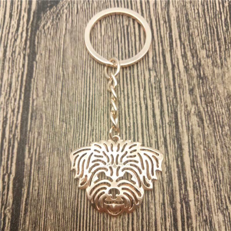 Shih Tzu Key Chains Fashion Pet Dog Đồ Trang Sức Coton de Tulear Xe Keychain Bag Keyring Cho Phụ Nữ Người Đàn Ông