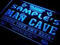 Qa Tm Name Personalized Custom Man Cave Football Bar Beer Neon Sign