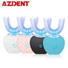 Nouveau 360 degrés Intelligent automatique sonique électrique brosse à dents USB Rechargeable Ultra sonique U forme 4 Modes minuterie lumière bleue