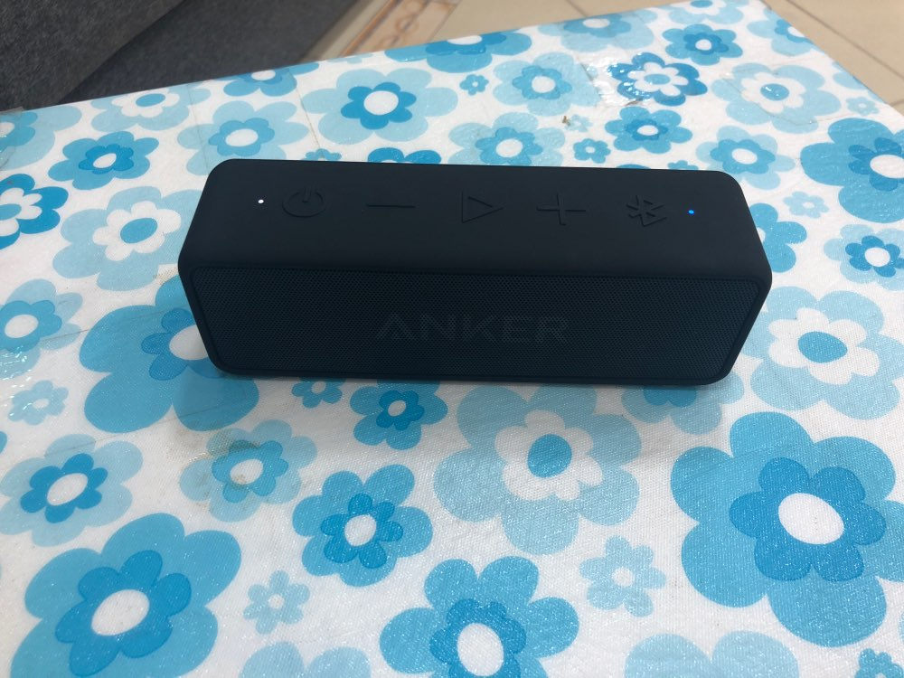 Anker SoundCore 2 Portable Bluetooth Wireless Speaker Better Bass 24-Hour Playtime 66ft Bluetooth Range IPX5 Water Resistance
