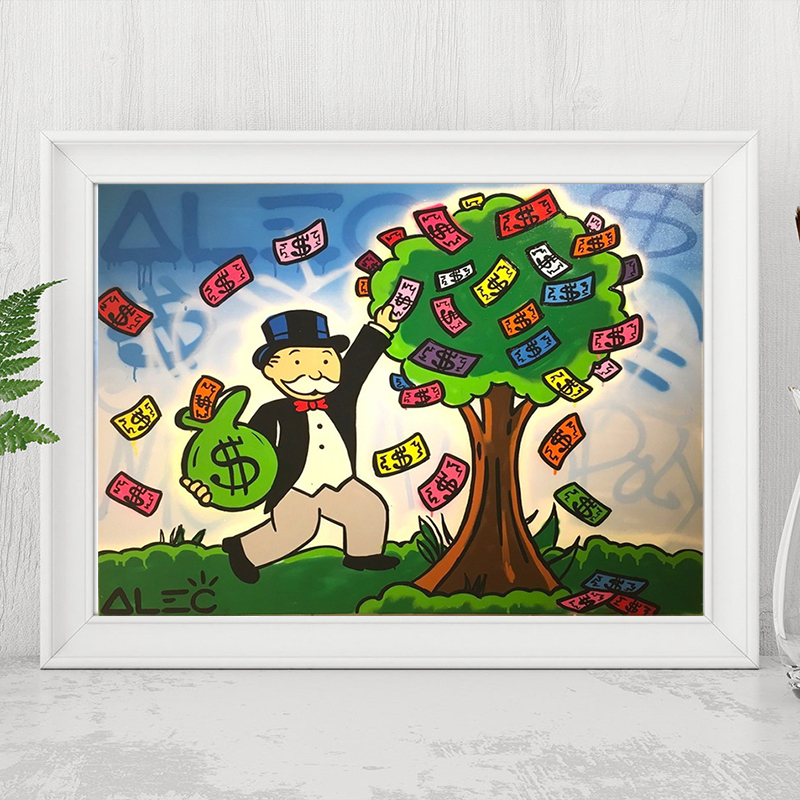 Cartoon Graffiti Money Tree Alec Monopolyingly Artwork Poster Painting On Canvas Bedroom Wall Art Decoration Pictures Home Decor Painting Calligraphy Aliexpress Cartoon color character person male money tree business investment concept. us 5 7 5 off cartoon graffiti money tree alec monopolyingly artwork poster painting on canvas bedroom wall art decoration pictures home