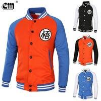 2018 Dragonball Spring New Arrival Men Baseball Uniform Jackets Simple Style Printing Men Jacket Coat Tracksuit