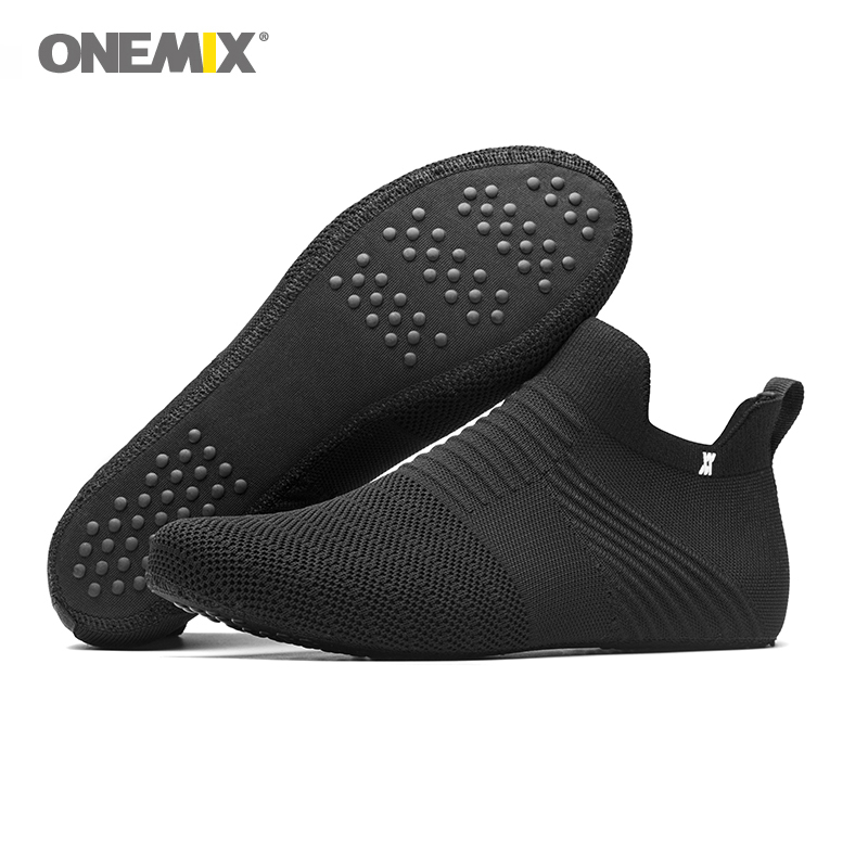 ONEMIX Men Shoes Women Shoes Slip-on Innner Slippers High-elastic Silk No Glue Environmentally Light Cool Man Indoor Working