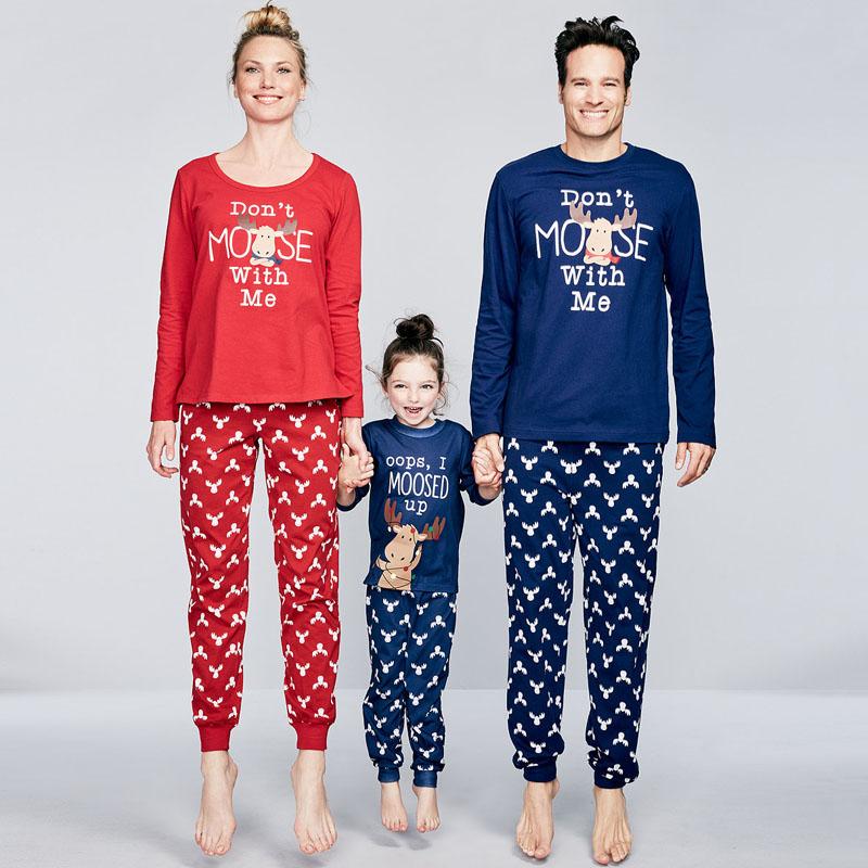 Christmas Reindeer Xmas Kids Adults Family Matching Pajamas Set Papa Mama  Baby Sleepwear Pyjamas Costume Family Look Clothing fd877f2c2