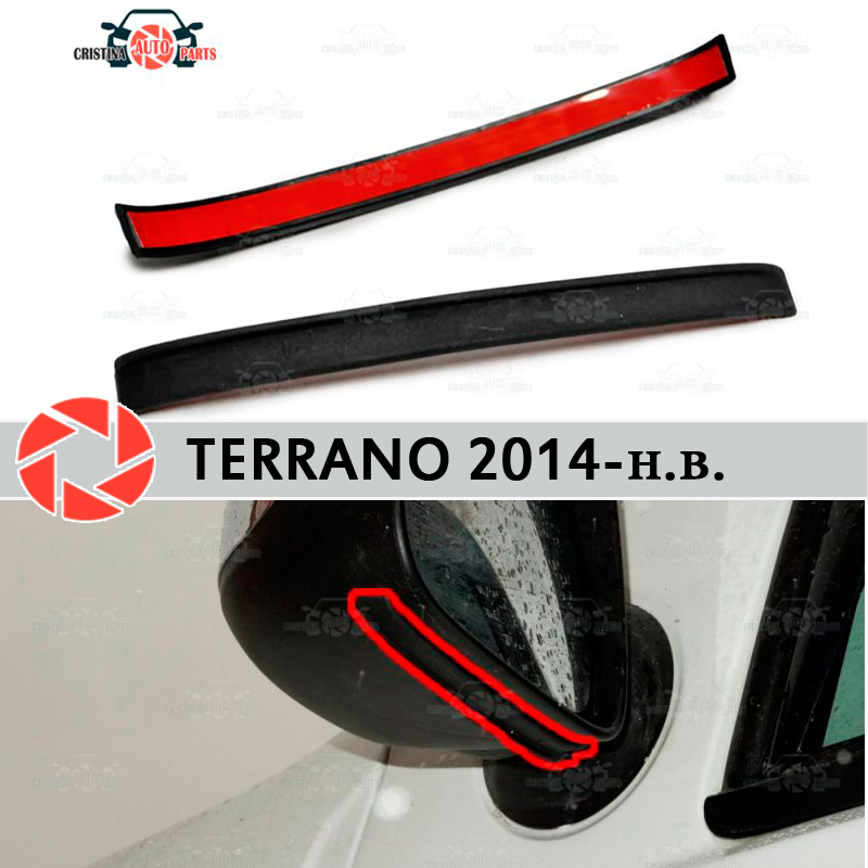 Mirror spoiler for Nissan Terrano 2014-2018 aerodynamic rubber trim anti-splash guard accessories mud guard car styling jado car dvr 5 0 ips screen full hd 1080p car dvrs dual lens recorder car camera dashcam rearview mirror registrar